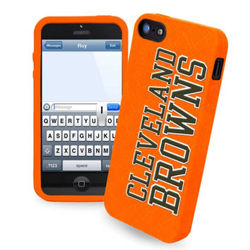 Cleveland Browns Silicone iPhone 5 Cover - Brown