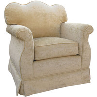 Angel Song 201721192Foam Versailles Velvet Taupe Adult Empire Rocker Glider