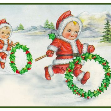 Vintage Christmas Santa Helpers Nimble Nick #29 Counted Cross Stitch or Counted Needlepoint Pattern