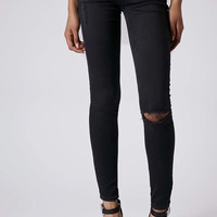 MOTO Ripped Low Rise Leigh Jeans