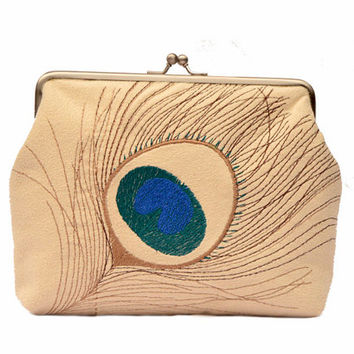 Peacock Clasp bag // Clutch bag // Clasp purse // Clutch purse // Bridesmaid gift // Evening purse bag // Bags and purses // Small purse