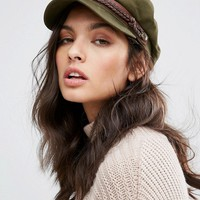 Brixton Baker Boy Hat in Khaki at asos.com