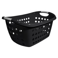 Medium Black Rectangular Laundry Basket 1.8-bu.