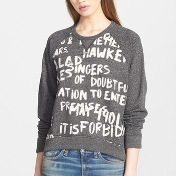 Women's rag & bone/JEAN Graffiti Sweatshirt,