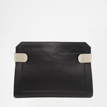 Metal Hinge Clutch Bag
