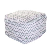 Large Printed Indoor Ottoman - Zoom Zoom - Pink/Gray
