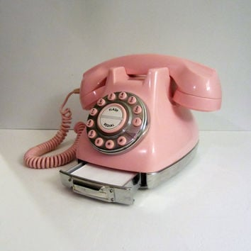 Pink Polyconcept Push Button Phone