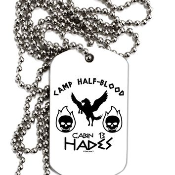 Cabin 13 HadesHalf Blood Adult Dog Tag Chain Necklace by TooLoud