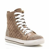 quilted-embellished-contrast-sneakers BLACK TAUPE - GoJane.com