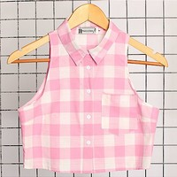 Hearts and Bows Saron Cropped Gingham Shirt | ARK