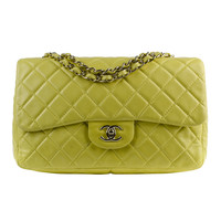 Chanel Yellow Maxi Flap Bag