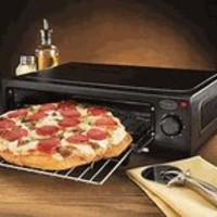 Nostalgia Electrics PBO-220BLK Countertop Pizza Oven, Black