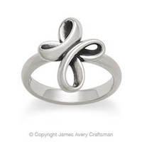 Eternal Ribbon Cross Ring from James Avery