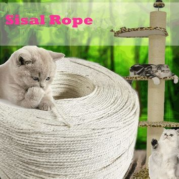3 meters sisal rope for cat scratching post toys making DIY desk foot stool chair leg binding rope material for cat sharpen claw