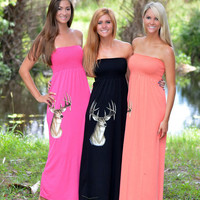 cute and stylish Maxi long deer hunting dresses
