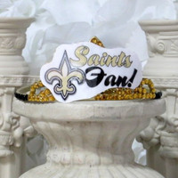 NO Saints - Saints - New Orleans - New Orleans Saints - Saints Football - NFL - Womens NFL - Football Hair Accessories - Football Gifts