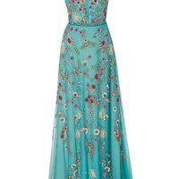 Sleeveless Embroidered Gown | Moda Operandi