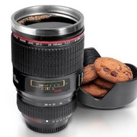 Photographer Camera Lens Insulated Coffee Mug or Thermos