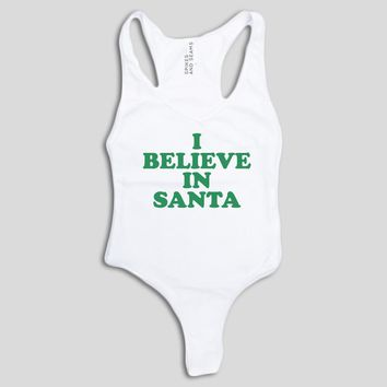 I Believe in Santa Bodysuit - Green
