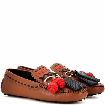 Infilature Gipsy Catena leather moccasins