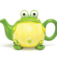 Toby Toad Ceramic Teapot and Mugs