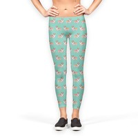Welsh corgis dogs pattern Leggings by Savousepate from €37.00   miPic