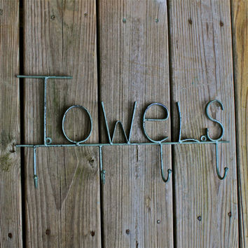 Sage Bath Towel Hook/ Bath Beach Towel Robe by AquaXpressions