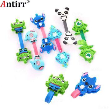 Cartoon Charger USB Cable Winder Data line Protector Earphone Wire Cord Organizer Management fastener Marker Holder Button fixer