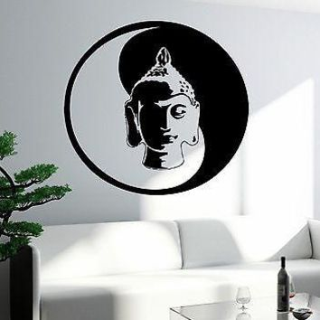 Wall Decal Buddha Buddhism Yoga Om Cool Art For Living Room Unique Gift (z2624)