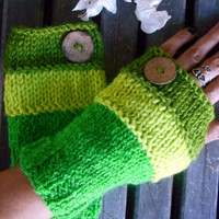 Green Gloves,Handmade,Knit Glove,Hand Warmer,Crochet Gloves,Fingerless Glove,Winter Gloves,Women Gloves,Arm Warmers,Crochet Glove,Gift Ideas