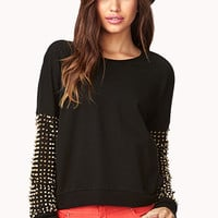 Spiked Sleeve Sweatshirt