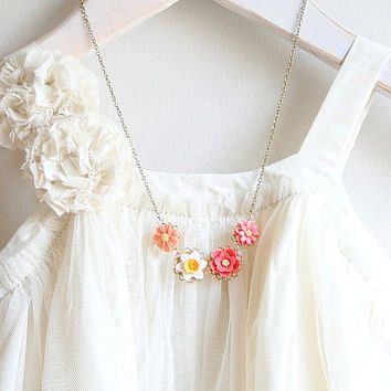Daffodil Floral Necklace