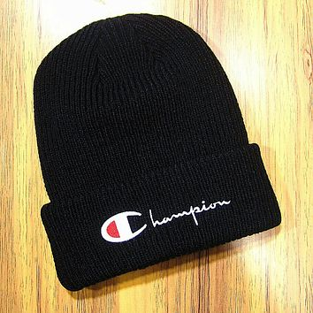 Boys & Men Champion Hip Hop Women Men Beanies Winter Knit Hat Cap