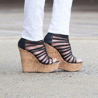 Sinome Black braided wedge