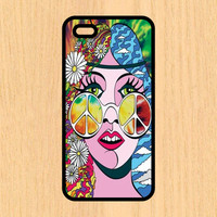 Hippie Peace Chick Phone Case iPhone 4 / 4s / 5 / 5s / 5c /6 / 6s /6+ Apple Samsung Galaxy S3 / S4 / S5 / S6