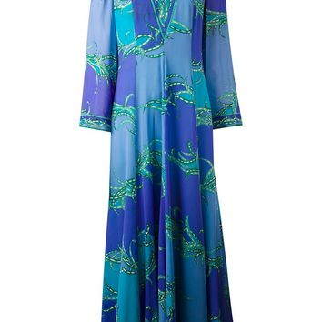 Emilio Pucci Vintage leaf print dress