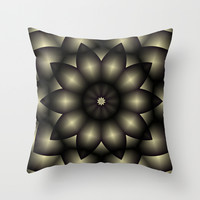 Star Flower Throw Pillow by Eric Rasmussen