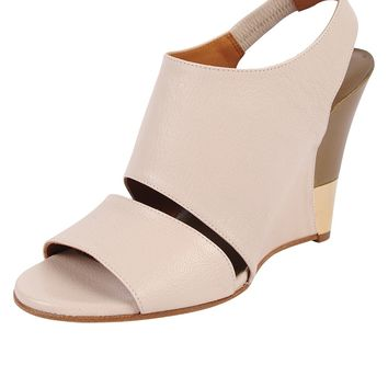 Chloe Gold Accent Wedge