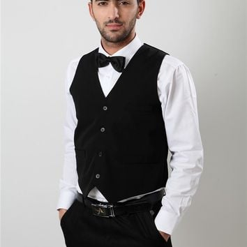 AIMENWANT Ktv vest work wear high quality solid chef uniforms hotel restaurant waiter vests working clothes free shipping