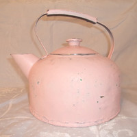 Vintage Shabby Chic Tea Pot by TheShabbyChicCellar on Etsy