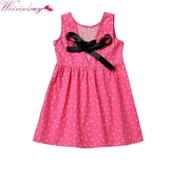 Kids Girl Fruit Printing Pattern Dress Kids Teens Sleeves Cotton Dress Clothes Summer Vestidos