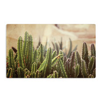 "Jillian Audrey ""Green Grass Cactus"" Green Brown Aluminum Magnet"