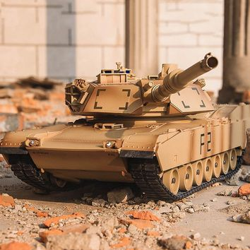 41CM M1A2 RC Tank Electrically Driven Toy Tank Remote Control Toys RC Car Electronic games For Children Boys Birthday Gifts