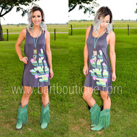 Cactus Craze Fringe Dress