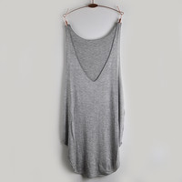 LOBBPAJA Brand Loose Design Vest Deep V Neck Tank Tops Woman Ladies Modal Sleeveless Shirt Summer Basic Tops & Tees for Women