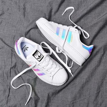 """Adidas"" Superstar Shell toe Colorful laser Casual Sneakers"