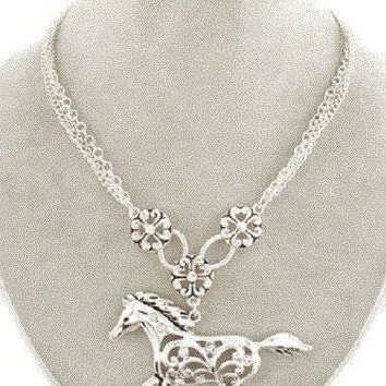 Cowgirl Bling Rhinestone Necklace and Matching Earrings
