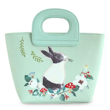 ENSSO   Green Rabbit Mori Girl Fashion Mori Hobos Fairy Tale Bags Leather PU For Women's Handbags Messenger Bags Top-HandleTotes