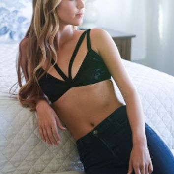 Crushed Velvet Strappy Bralette