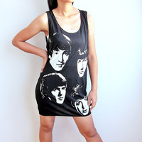 The Beatles Tank Top John Lennon Paul Mccartney T Shirt Women T-Shirt Size M